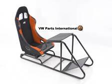 Simulador De Carreras De Juegos Marco Silla Asiento de Cubo para PS4 XBox PS3 Negro/Naranja