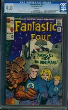 Fantastic Four 45 CGC 4.0 White Pages Silver Age Key Marvel 1st Inhumans L@@K