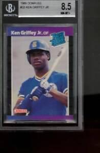#33  KEN GRIFFEY jr RC 1989 89 DONRUSS    BGS 8.5   old label