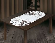 "Oval white, lace tablecloth / table runner NEW 50 x 110 cm (20"" x 43"")"