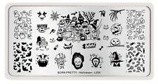 Pumpkin Witch Candy Image Nail Art Template Halloween Day L005