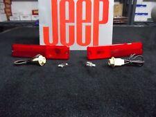 Jeep CJ side marker lens, Jeep CJ side marker light RED, CJ Laredo