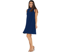 Attitudes By Renee Regular Como Jersey Sleeveless Mock Neck Dress Size S