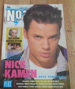 NICK KAMEN Number One 1987 magazine cover only - Poster/clipping 11x8 inches