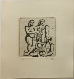 Etching  FERNAND LEGER  signed by hand,gravure,radierung,aguafuerte