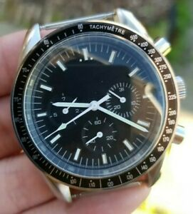 Mens Speed Chronograph Homage Watch Parnis moon luxury vintage Automatic STERILE
