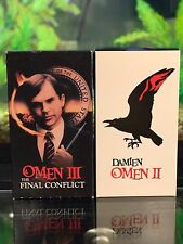 Lot of 2 Omen VHS titles Damien Omen 2 and Omen 3 The Final Conflict Horror