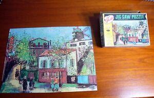 VINTAGE GUILD Montmartre Paris Machine cut 304 pc JIGSAW PUZZLE COMPLETE Whitman