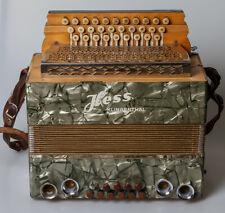 Kleines Akkordeon Ziehharmonika Hess Klingenthal sehr alt  Dachbodenfun
