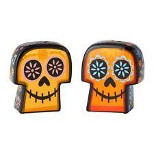 Enesco PIXAR Ceramics Coco Sugar Skull Salt and Pepper Set