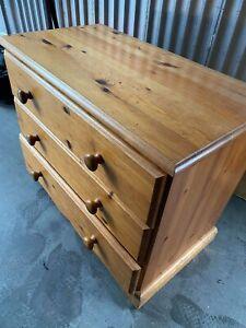 pine wood chest 3 draw