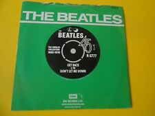 """The Beatles  Get Back c/w Don't Let Me Down  1976 7"""" Apple Records"""