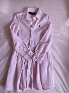 genuine ralph lauren polo Dress Girls Pink Age 4