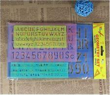4 Sizes - Alphabet Letter Number Plastic Stencil Template kids School Craft
