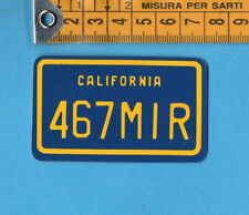 ADESIVO/STICKER-TARGHE AMERICANE- CALIFORNIA -cm.4,4x7,3-vintage anni 80