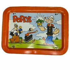 Vintage Popeye 1979 TV Dinner Folding Lifted Metal Tray Collectible Cartoon