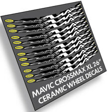 "Mavic CrossMAX 26"" Ceramic V-BRAKE decals stickers label for bike bicycle wheels"