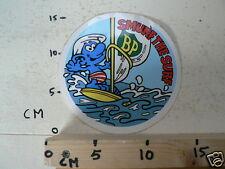 STICKER,DECAL BP SMURF  SMURF THE SURF LARGE SMURFS,SCHLUMPHE,LES SCHROUMPFS,