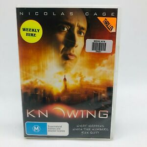 Knowing (DVD, 2009) Region 4 With Nicolas Cage In Very Good Condition