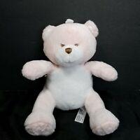 "Babies R Us Pink Teddy Bear Plush Security Stuffed Animal Baby Lovey Soft Toy 8"""