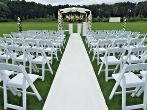 White Wedding Aisle Runner Carpet Cheap Luxury Quality 1 to 2m wide  £5/m+del