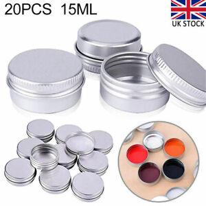 20Pcs 15ml Aluminum Tin Jars Cosmetic Containers Empty Screw Lid Lip Balm DIY