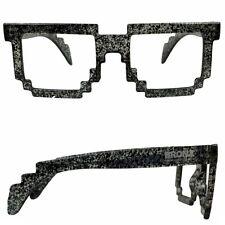 Montatura Occhiali Stile 8 BIT 80s PIXEL Trasparente con schizzi UNISEX VINTAGE