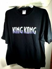 XL black TSHIRT movie film KING KONG m&o knits GORILLA skull island NYC