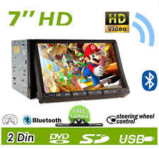 "Car DVD CD Player 7"" 2DIN In Dash GPS Navigation+Map FM+BT+Radio Stereo+Camera"