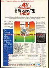 4th International 16 Bit Computer Show 1991 Magazine Advert #5646
