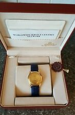 VINTAGE OMEGA SEAMASTER 18K GOLD AUTOMATIC WRISTWATCH COMPLETE WITH BOX