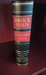 Brockhaus Enzyklopädie 19.Auflage Zitate und Redewendungen Cabra-Leder Band 32