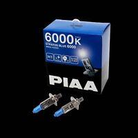 HZ505 PIAA H1 STRATOS BLUE 6000 HEADLIGHT BULBS (x2) 6000K XENON EFFECT 100W