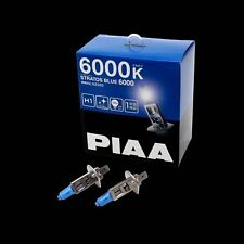 HZ505 PIAA H1 STRATOS BLUE 6000 HEADLIGHT BULBS (x2) 6000K XENON EFFECT 100W