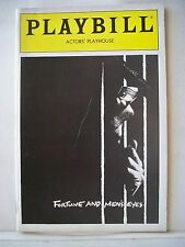 FORTUNE AND MEN'S EYES Playbill EDWARD ORMOND /JON PAVIOVSKY NYC 1987