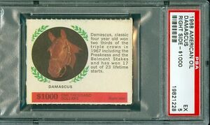 1968 AMERICAN OIL DAMASCUS PSA 5 (EX) RIGHT SIDE $1000 / ONLY 1 HIGHER