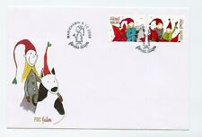 Aland FDC 2009 Christmas Pair Children AL-1