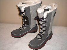 NEW Womens SOREL Tivoli High II Gray Suede Leather Winter Snow Boot Sz 10 M