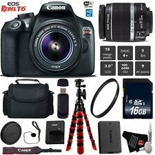 Canon EOS Rebel T6 DSLR Camera 18-55mm is II Lens Package