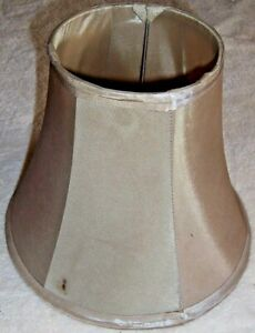 """Lamp Shade 5"""" Top x 9¼"""" Bottom x 7½"""" Tall Beige Wire & Polyester-Cloth Unbranded"""
