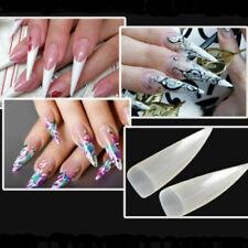 Holographic Nail Art Long Nail Tips