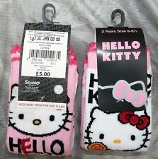 YOU GET 6 PAIRS OF GIRLS PINK SOCKS CUTE KITTEN CHARACTER SIZE 6-8.5