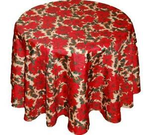 WEIHNACHTEN Tischdecke Rund 150 cm Weihnachtsecke Decke pflegeleicht Unterdecke