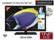 Combiné Télévision + lecteur  DVD LED 19'' TNTHD  48cm HDMI USB camping car