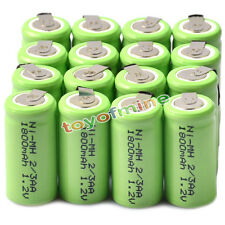 16x Ni-MH 1.2V 2/3AA 1800mAh rechargeable battery NI-MH Batteries For Phone Toy