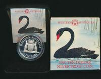 Australia: 1990 $10 Western Australia Silver Proof in RAM Case, Coat of Arms