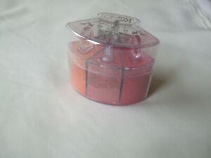 Crazy Girl Crystal Eyeshadow Trio Loose Powder Orange, Deep Pink, Coral Red New
