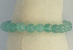 Genuine Stone Aventurine Bead Stretch-Elastic Bracelet