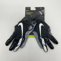 Nike Vapor Jet Receiver Gloves Mens M NFL NCAA College Football Black Gray White