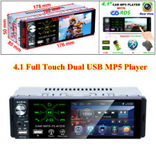 """4.1"""" 1Din Touch Screen Universal Car Stereo Radio HD MP5 Player Bluetooth 4x 50W"""